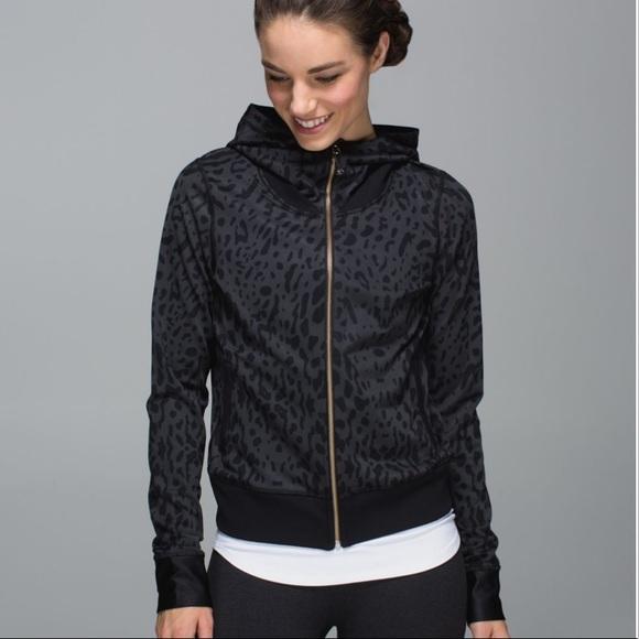 lululemon athletica Jackets & Blazers - Lululemon   Namaskar Hoodie Animal Coal / Black 8